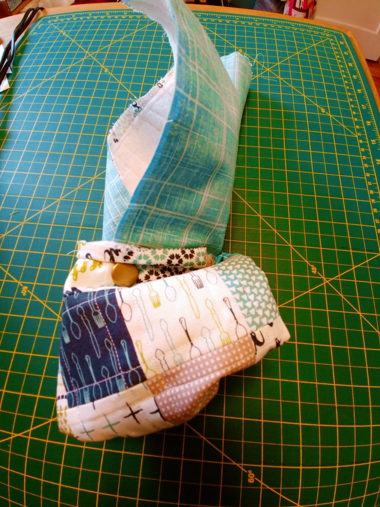 Patchwork Pouch turned right side out