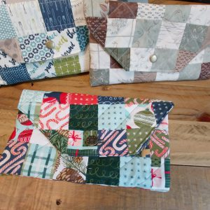 Finished Patchwork Pouches