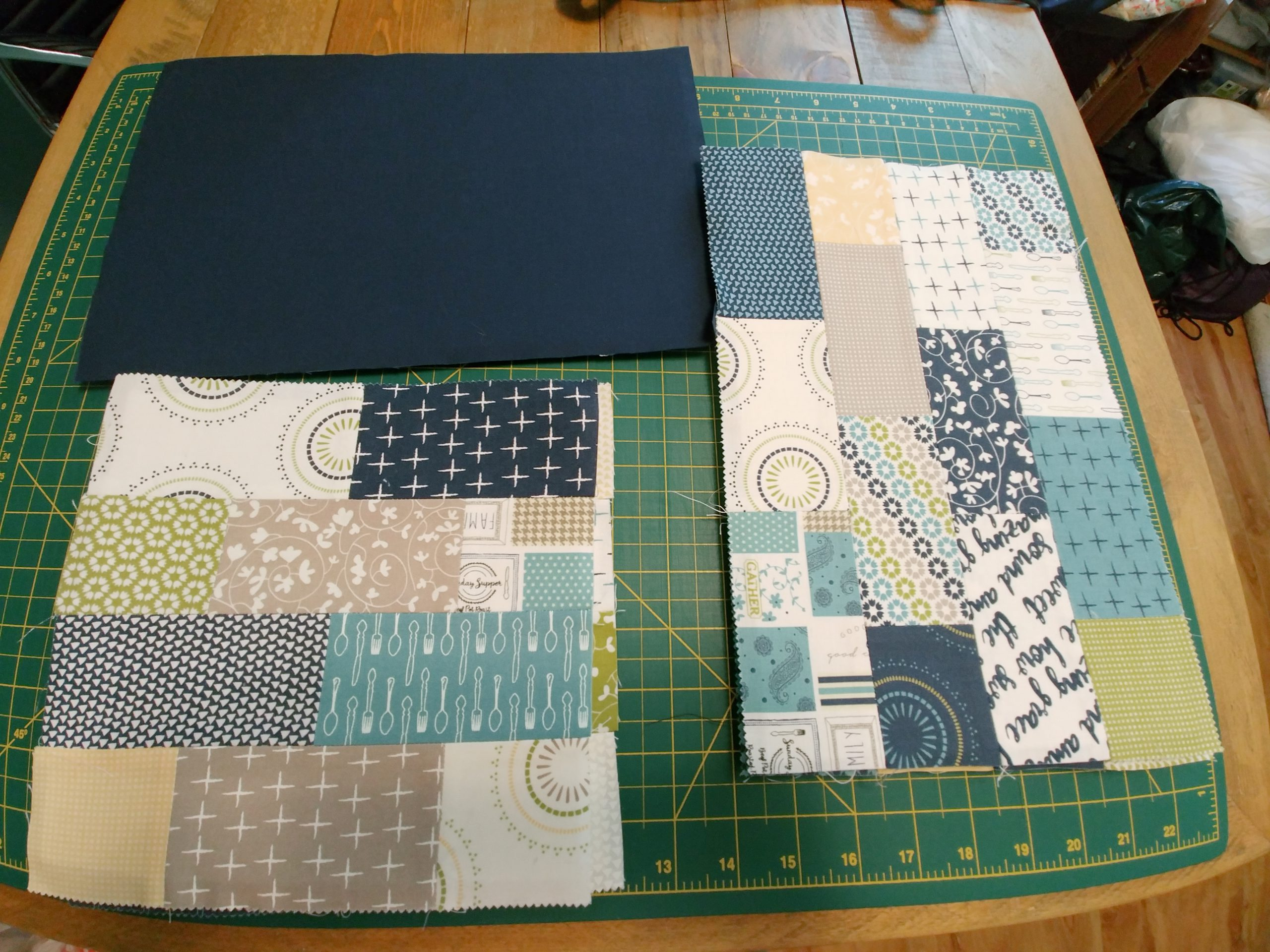 Quilted Storage Bin Outer Pieces