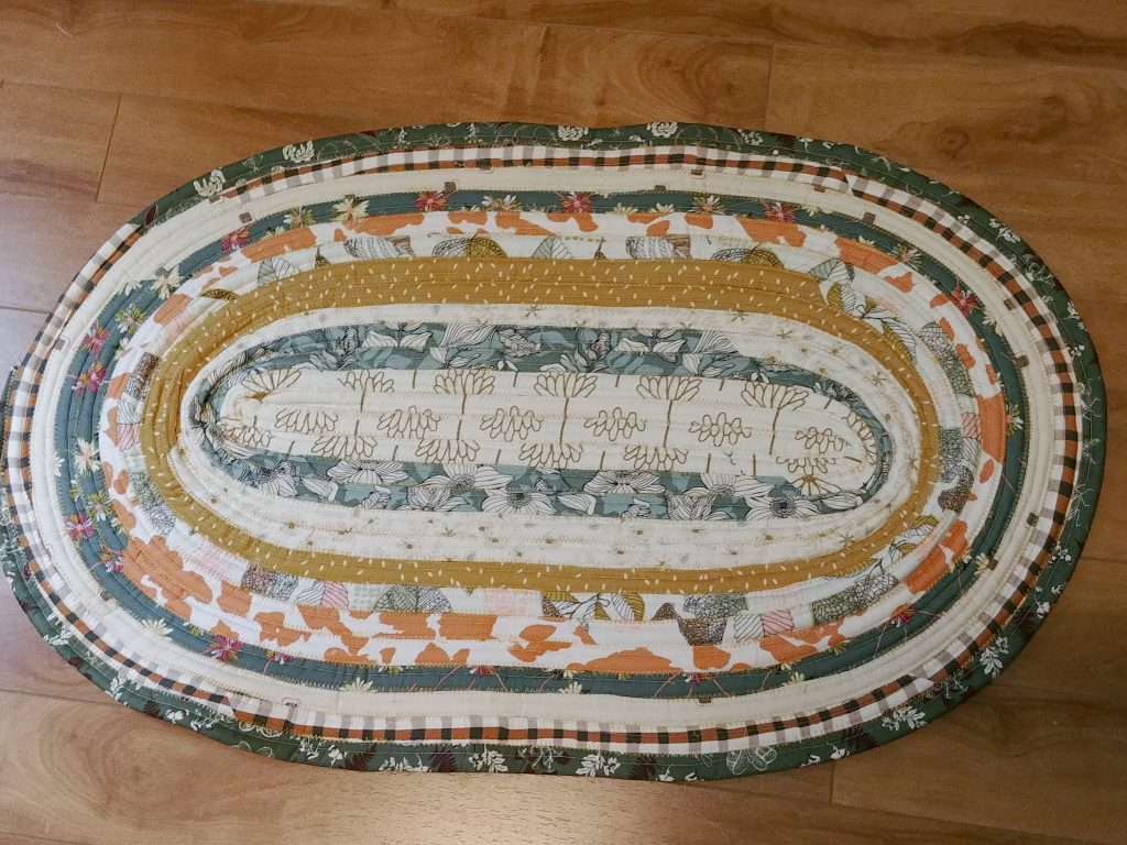 Jelly Roll Rug Finished