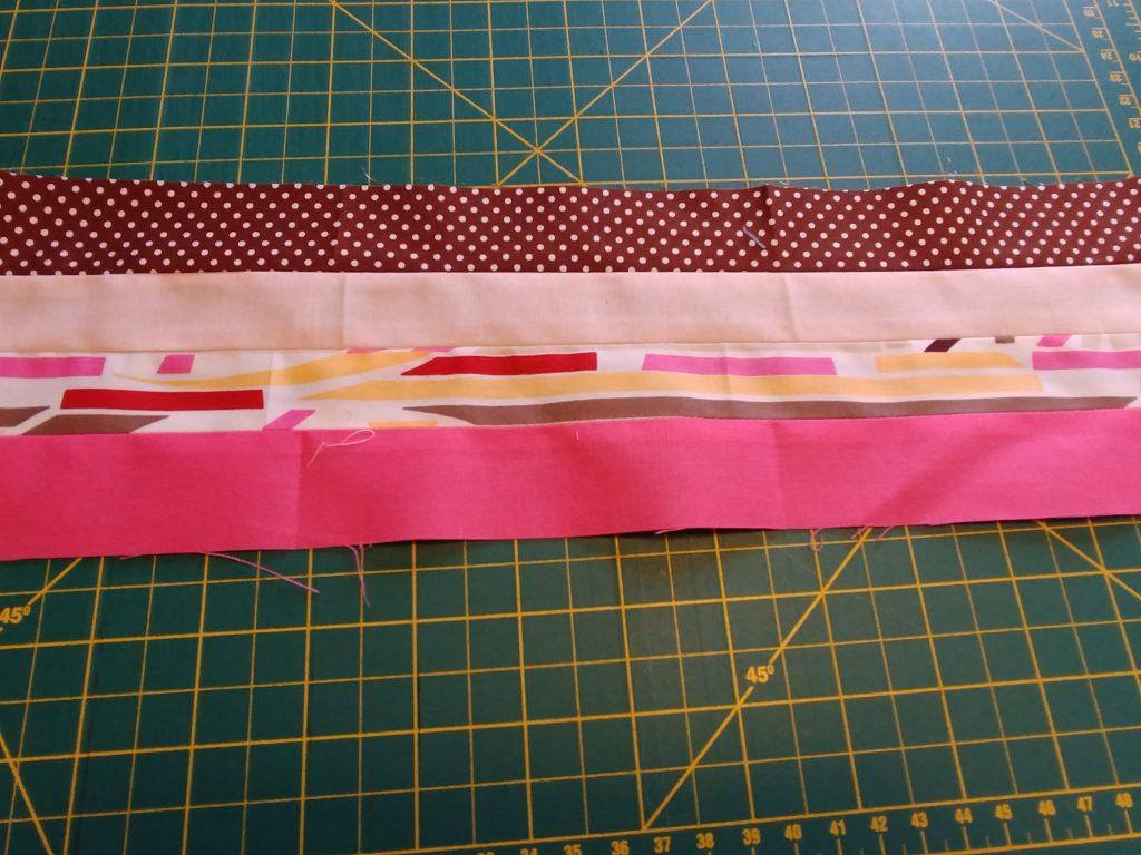Patchwork bag strips