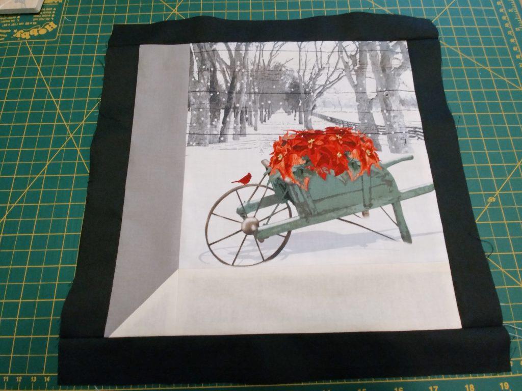 Window Box Quilt framed
