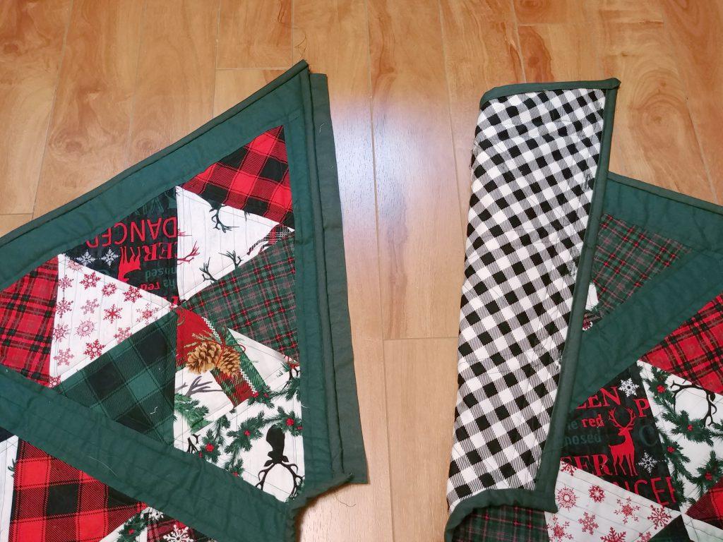 Hexagon Tree Skirt Button Flap