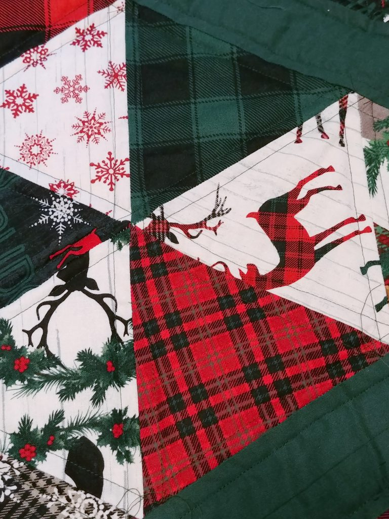 Hexagon Tree Skirt Quilting