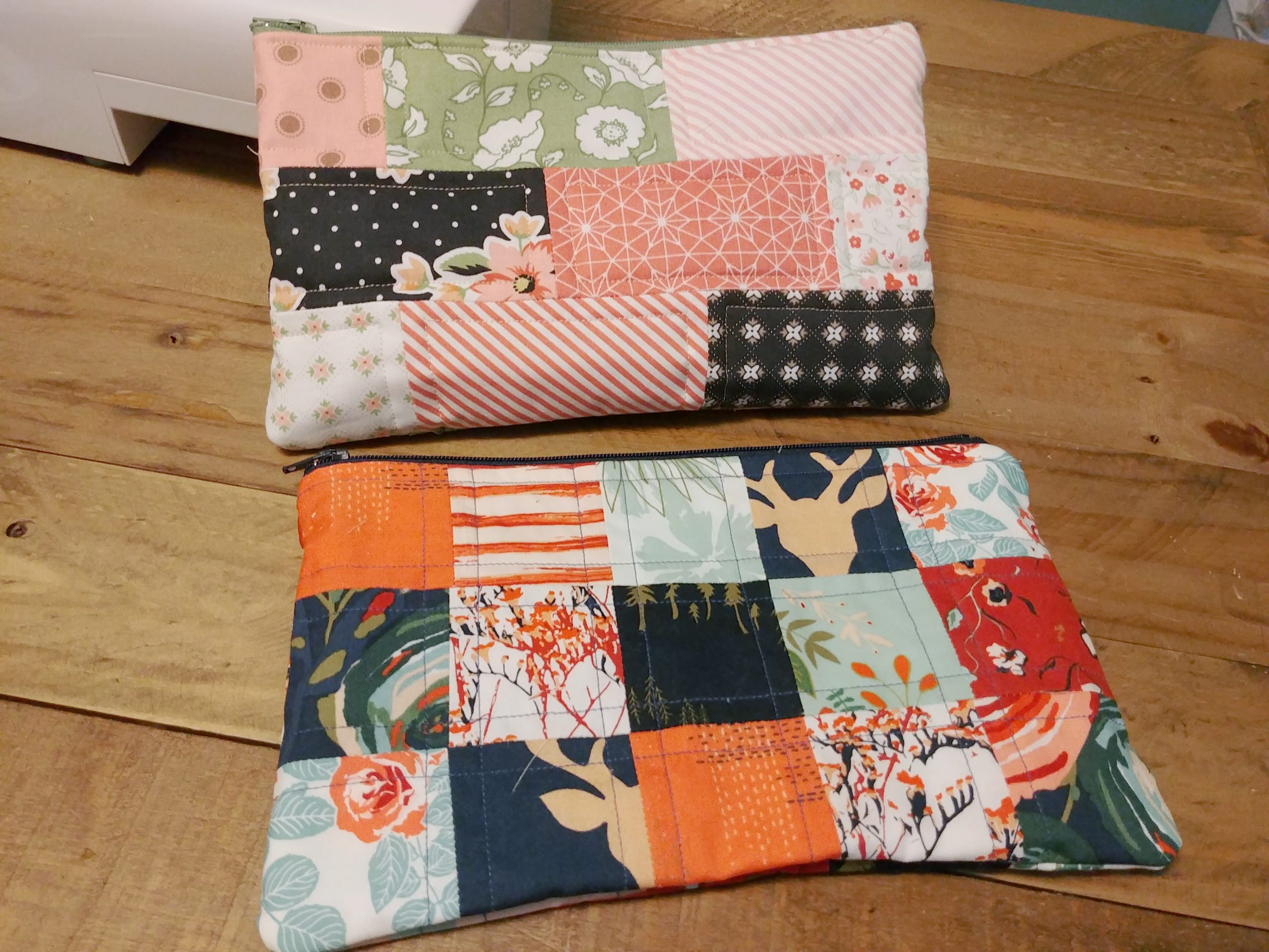 Zippered Patchwork Pouch Finished