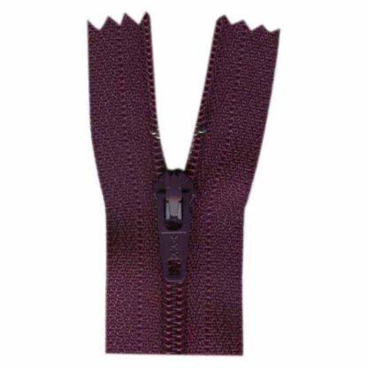 """9"""" Aubergine Zipper"""