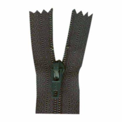 "9"" Charcoal Zipper"