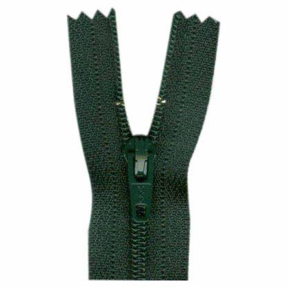 """9"""" Forest Green Zipper"""