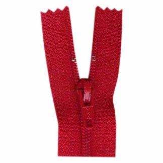"""9"""" Hot Red Zipper"""
